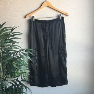 NY&Co. black baggy wide leg crop pants size small